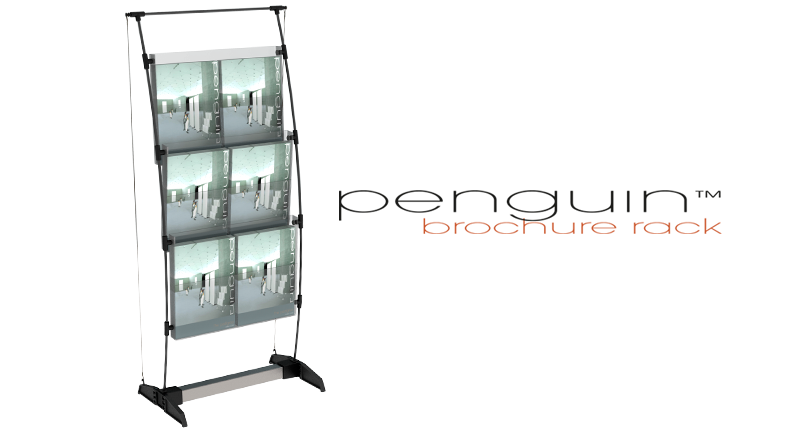 penguin brochure rack